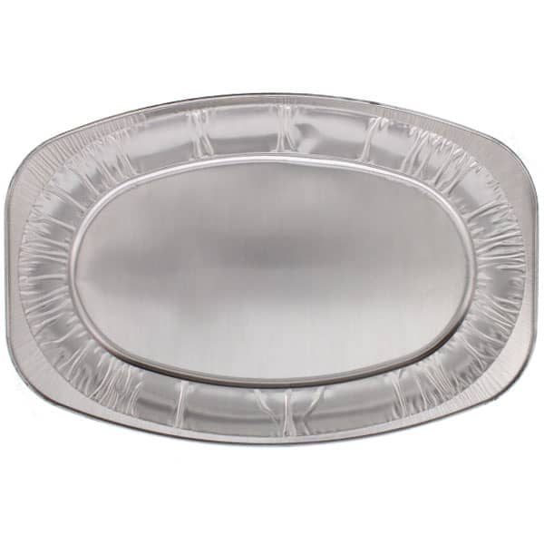 Large Oval Foil Platters - 22 Inches / 55cm - Pack of 10