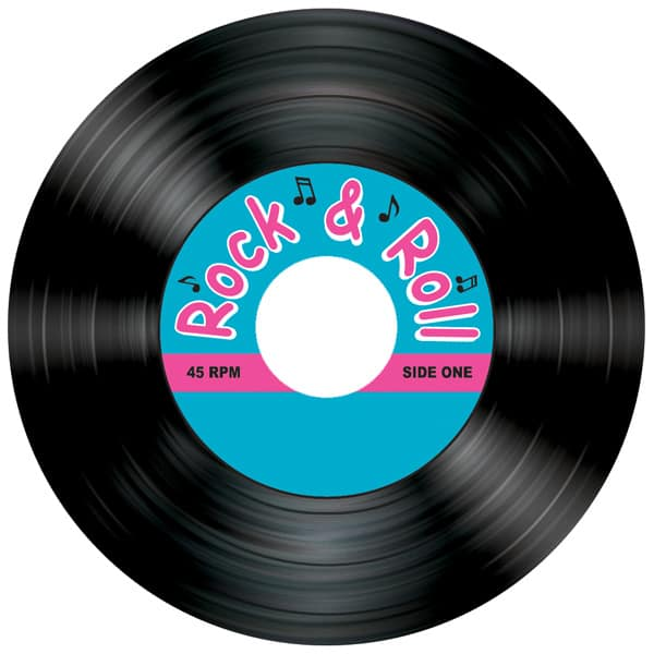 8 Rock and Roll Thema Onderzetters