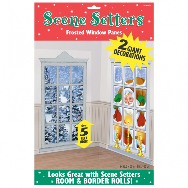Kerstmis Decoraties Frosted Vensters Scene Setter Add-Ons Kunststof Decoraties 1.65m X 85cm