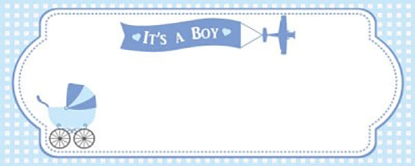 Het is een Boy Special Delivery Small gepersonaliseerde banner-4ft x 2ft