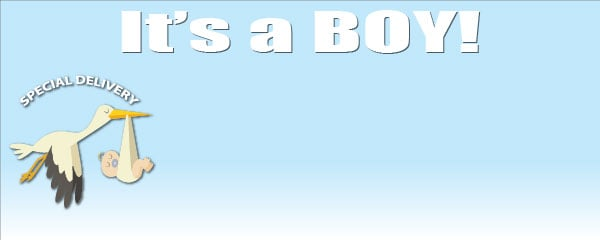 Baby Shower Medium gepersonaliseerde Banner - 6ft x 2.25ft