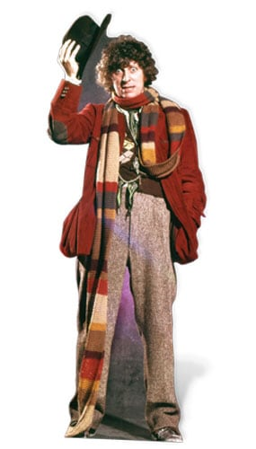 Tom Baker Dr Who The 4th dokter Levensgrote Karton Uitknippen - 181cm