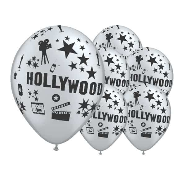 Zilveren Hollywood Thema 12 Inch Latex Ballonnen