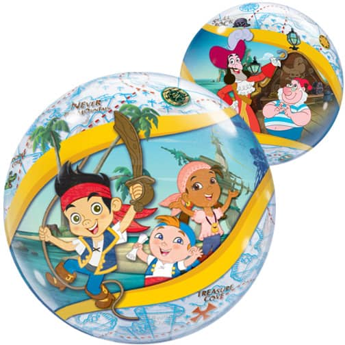 Jake And The Never Land Pirates Bubble Helium Qualatex Ballon 56Cm / 22 In