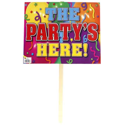 Het Party S Here Lawn Sign