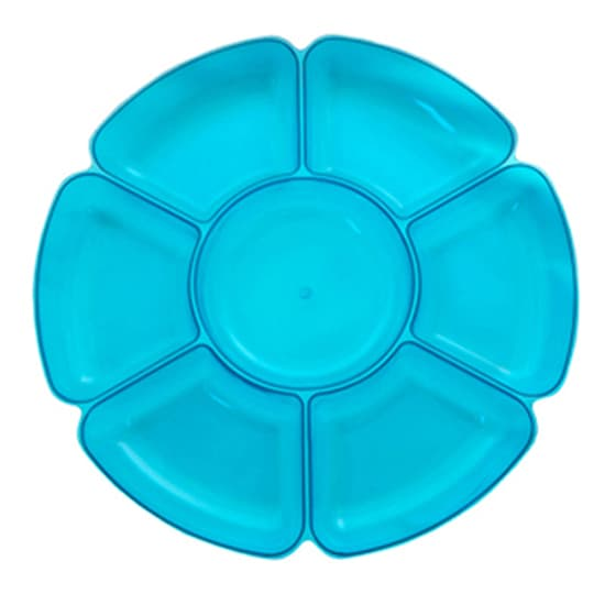 Neon Blue Large Section Tray - Single