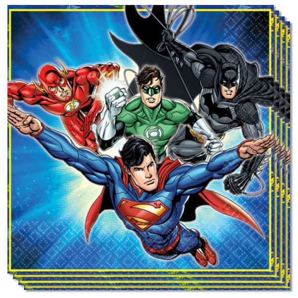 Justice League Luncheon Servet - 2 Ply - 33cm - Pack van 16