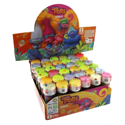 Trolls Fles Bubbles - 60ml - Pack van 36