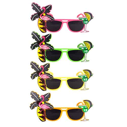 Flamingo Tropical Party Novelty Zonnebril