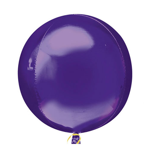 Paarse Orbz Folie Heliumballon 38Cm / 15 Inch