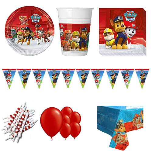 Paw Patrol Theme 8 Person Deluxe Party Pack