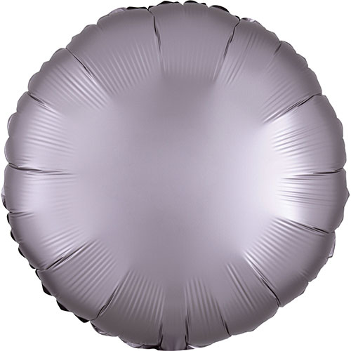 Greige Satin Luxe Round Shape Foil Helium Balloon 43cm / 17 in