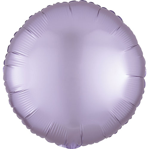 Pastel Lilac Satin Luxe Round Shape Foil Helium Balloon 43cm / 17 in