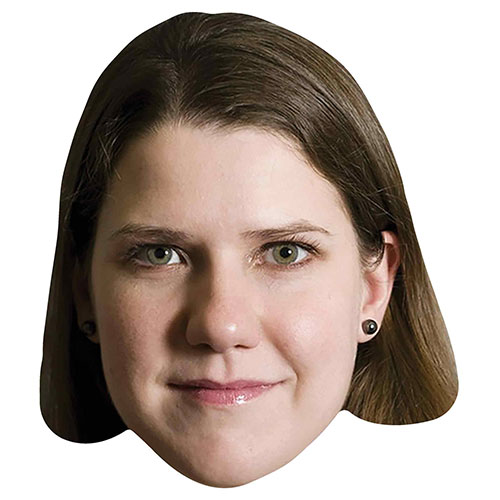 Jo Swinson Cardboard Face Mask