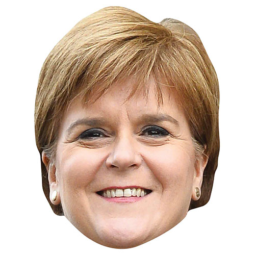Nicola Sturgeon Cardboard Face Mask