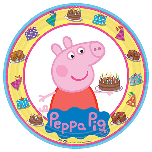 Peppa Pig Round Paper Plates 23cm - Pack of 8