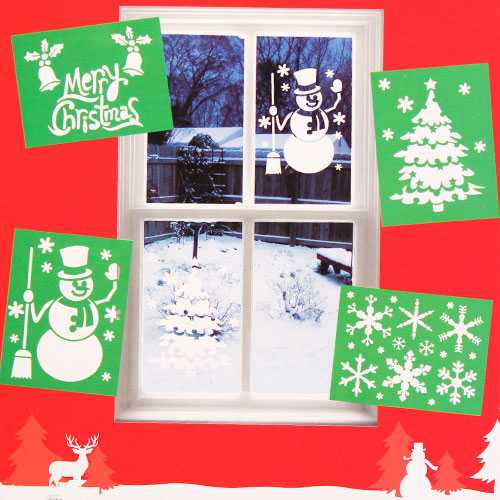 Assorted Christmas Window Stencils - Pack of 4