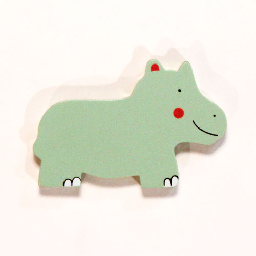 Hippo Wooden Magnetic Toy
