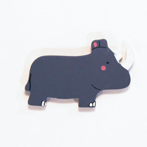 Rhino Wooden Magnetic Toy