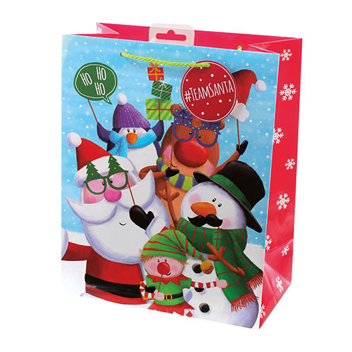 Selfie Christmas Large Gift Bag 33cm