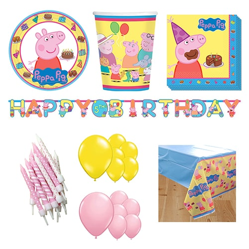 Peppa Pig 16 Person Deluxe Party Pack