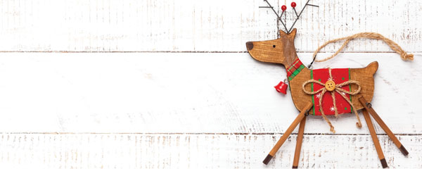 Wooden Reindeer Christmas Design Large Personalised Banner – 10ft x 4ft