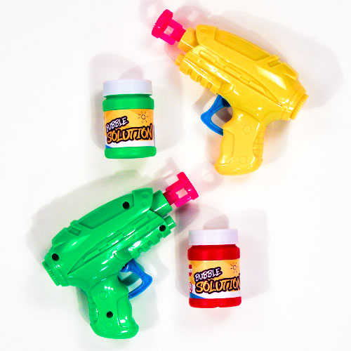 Assorted Friction Bubble Gun Toy Set