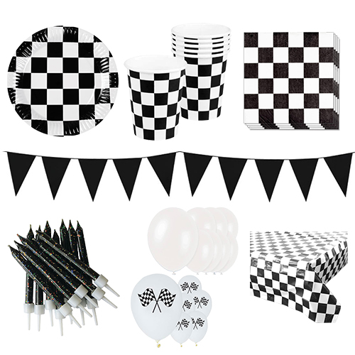 Racethema 12 Persoons Deluxe Party Pack