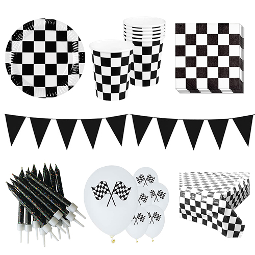 Racethema 6 Persoons Deluxe Party Pack