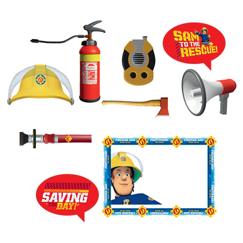 Brandweerman Sam Photo Booth Props Kit