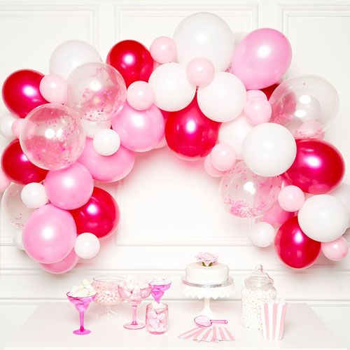 Roze DIY Slinger Ballon Boog Kit